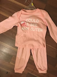 6-9m pink long sleeve and pink pants