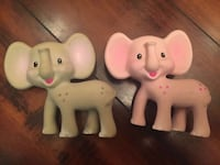 two white and pink ceramic elephant figurines Orange Park, 32065