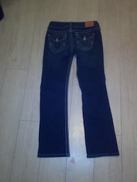 blue denim straight-cut jeans Abbotsford