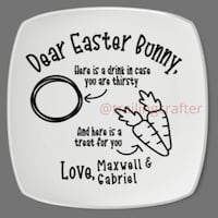 Decorative Easter Plates- personalized
