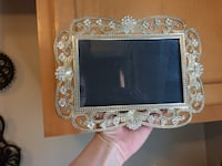 Antique Wedding Decorations Antique Silver and Jeweled Frame 5x7 Troy, 63379