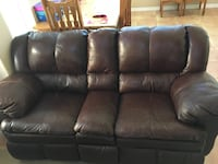 Couch Dark brown  Faux leather 2241 mi