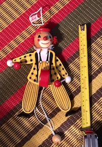 Wooden clown puppet made in Italy