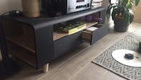Black and wood Structube Media Console Toronto, M6H 0B6