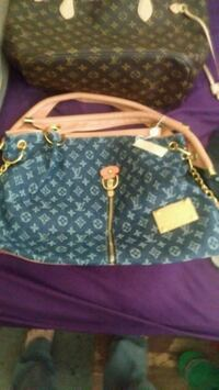 blue and white Louis Vuitton monogram tote bag Falls Church, 22042