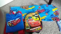 New CARS big fleece blanket And 2 CARS backpacks