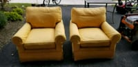 two brown fabric sofa chairs Leesburg, 20175