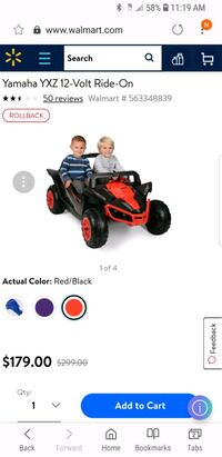 toddler's black and red ride on ATV Suwanee, 30024