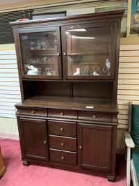 Attractive 2-Piece China Cabinet With Touch Lighting - REDUCED