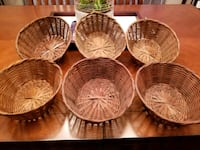 four brown wicker basket lot Mississauga, L4X 1X7