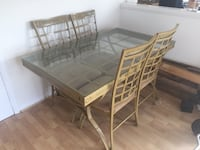 Rectangular glass table with four chairs dining set Rockville, 20852