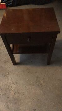 rectangular brown wooden 2-drawer side table Toronto, M4V 1P7