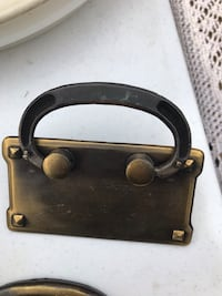 Brushed brass handles. Nice quality.xposted..