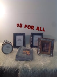 Assorted picture frames & picture album