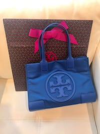 Tory Burch Ella mini tote blue 3 km