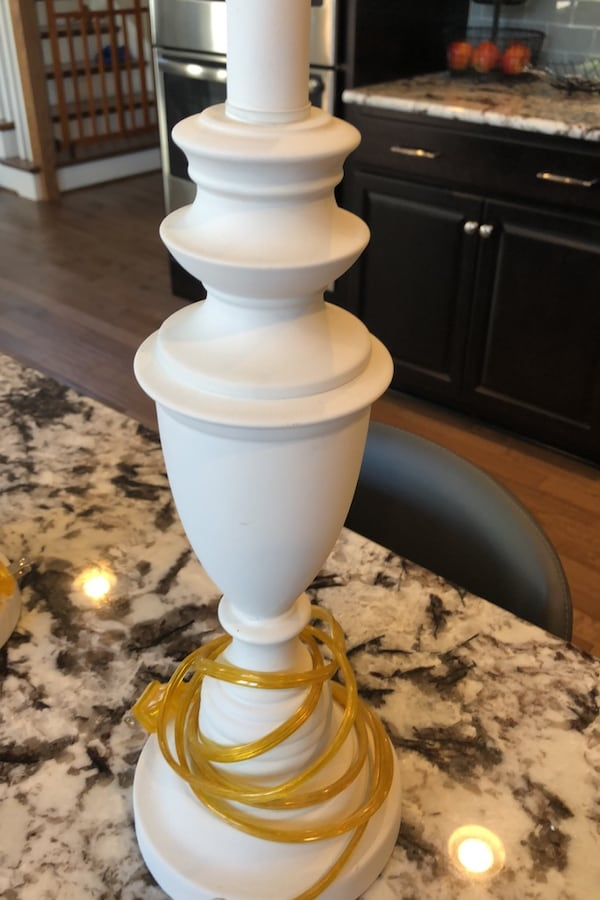 White (brass) lamps 2
