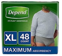 Adult Depends incontinent Underwear diapers pullups Vaughan, L0J 3X6