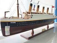 Wood hand crafted model of the Titanic. Original paperwork comes with it. Brand new! Washington, 20009