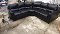 Black leather couch Tarpon Springs, 34689