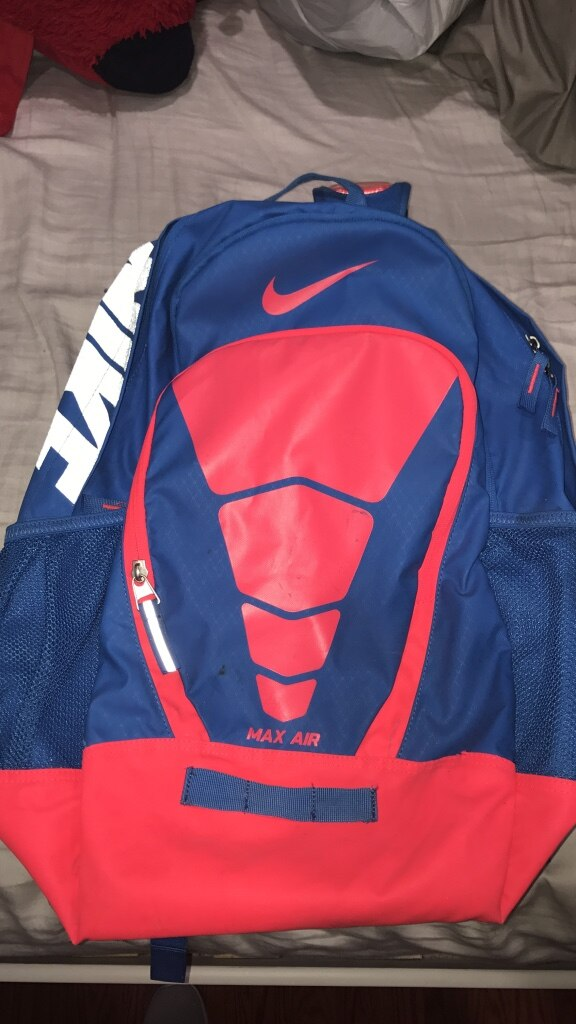 Black and red Nike Max Air backpack