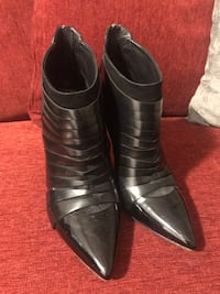 Pair of black leather shoes 7,5 Toronto, M6N 5C9