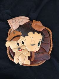 Betty boop wooden art piece vintage Roseville, 95678