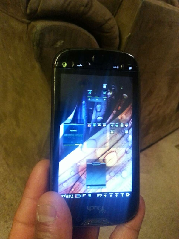 black touch android smartphone