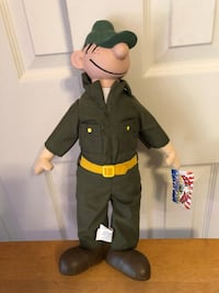 Beetle Bailey Doll w/Tags, Year 2000, Stuff Plush Toy Baltimore, 21236