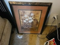 brown wooden framed painting of flowers Hagerstown, 21740