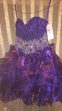 Homecoming / prom / purple bedazzled strapless dress / Size S Albuquerque, 87106