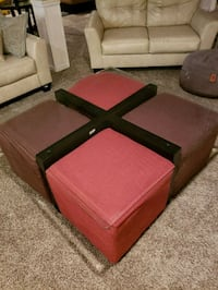 Coffee table, with ottomans/ stools  Independence, 64055