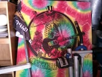 Large tie dyed poster  Los Angeles, 90011