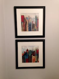 two assorted abstract paintings with black frames Surrey, V4N 3V1