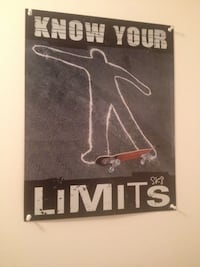 Know Your Limits wall mounted SIGN