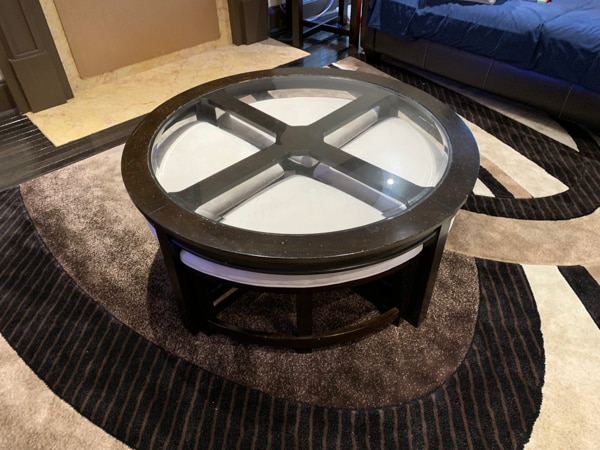 Peachy Coffee Table With Nesting Stools Gamerscity Chair Design For Home Gamerscityorg