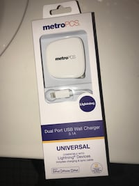 white Metro PCS USB wall charger in box Jacksonville, 32217