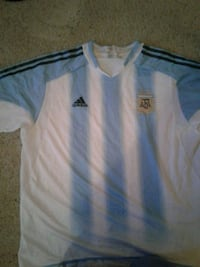 white and blue Adidas soccer jersey Tucson, 85713