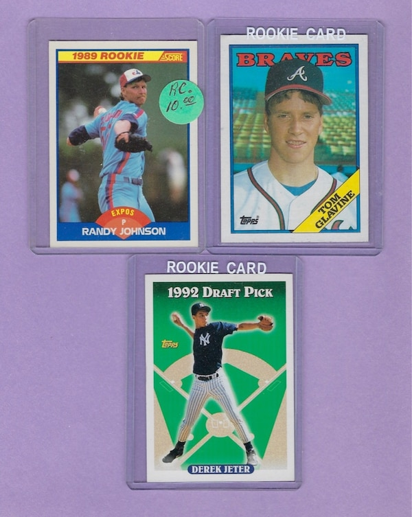 Three Rookie Trading Cards