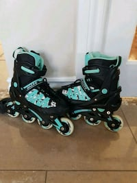 inline skates. Child.  Black and teal Montreal, H3W