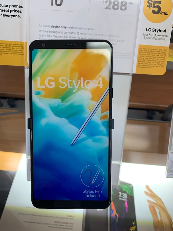 SWITCH OVER TO SPRINT AND GET LG STYLO4 FOR AS LOW AS $5 DOLLARS A MONTH!!