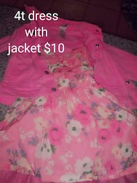 Dress with jacket 4t