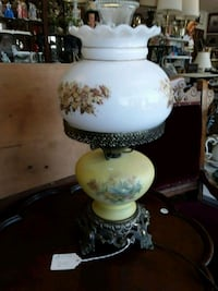 white and yellow floral table lamp Odenton, 21113