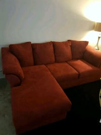 2 pic red sofa  I have it for one year not much us Gaithersburg, 20878