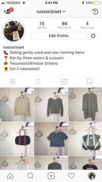 New Instagram account selling brand named clothes!!!!  Windsor, N8N 5A1