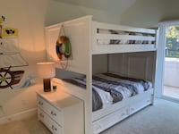 White full size bunk beds with staircase  San Clemente, 92673