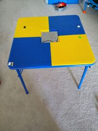 Lego table with storage mesh Centreville