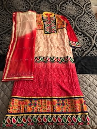 Multicolored embroidery worked long suit Des Plaines, 60016