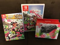 Splatoon 2 limited edition, pro controller, strategy guide all sealed (switch) 506 km