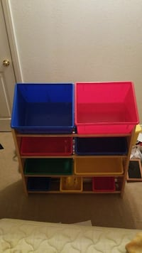 blue, red, and yellow plastic toy organizer Lancaster, 93536