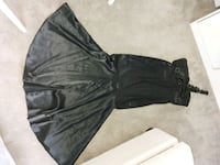 Black satin gown sz 10 Calgary, T2K 3Y4